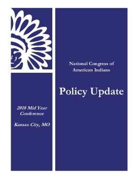 2018 NCAI Mid Year Policy Update