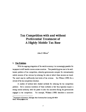 Tax Competition With and Without Preferential Treatment of a Highly-Mobile Tax Base