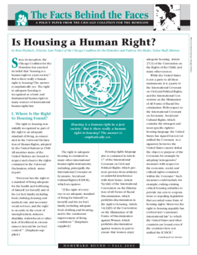 Is Housing a Human Right?