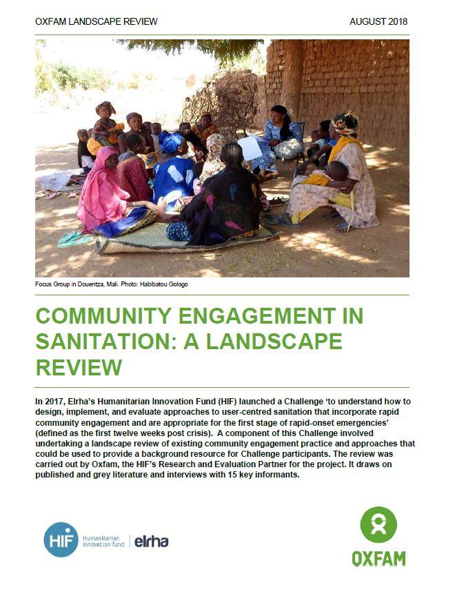 Community Engagement in Sanitation: A landscape review
